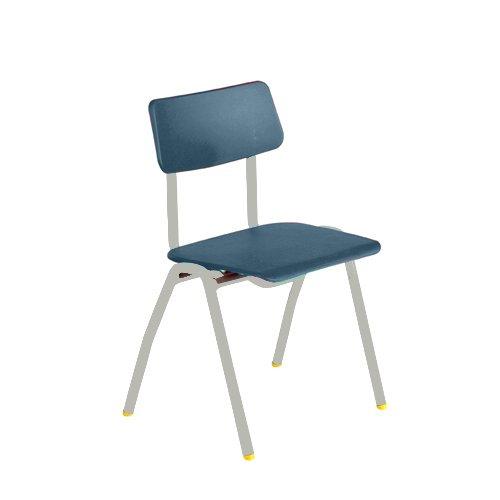 Metalliform bsc-lg-soft blu standard Classroom sedia con sedile 350mm, morbido blu