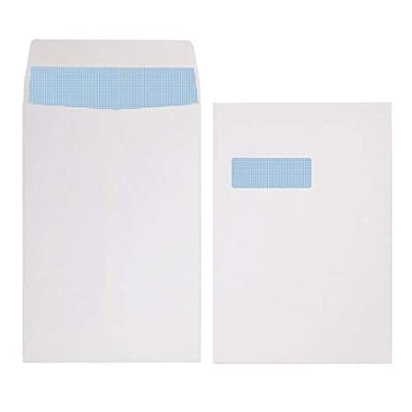 Pack Of 50 324x229mm C4 A4 White Plain Envelopes Self Seal