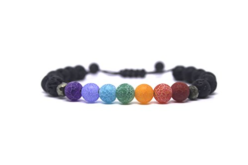 Banana Bucket Adjustable Calm Lava Stone Diffuser Bracelet - Meditation, grounding, Healing, Genuine Stones, Natural, Essential Oils, self Confidence, Holistic, Aromatherapy (Stones That Help With Anxiety And Depression)