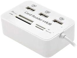 6 Port-s USB 2.0 SD//TF Card Reader Hub Adapter Splitter Combo for Computer Laptop hudiemm0B USB SD//TF Card Reader Hub Adapter