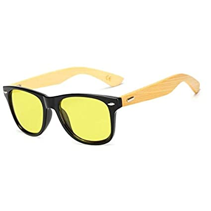 Amazon.com: New Bamboo Sunglasses Ocean Lens Wood Frame for ...