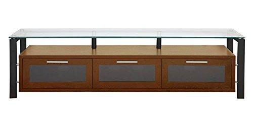 (Plateau Decor 71 (W)-B Wood and Glass TV Stand, Walnut)