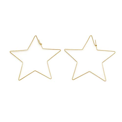 Guy-Sex Faddish Big Star Big Hoop Earrings for Women's Barbecue Gold and Silver Jewelry Earrings Small Exquisite Jewelry Party Club le0196 -