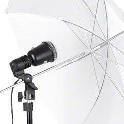 Weiss Studioblitz Studioleuchte mit Fotozelle Sync Walimex Pro 40W Synchronblitzlampe