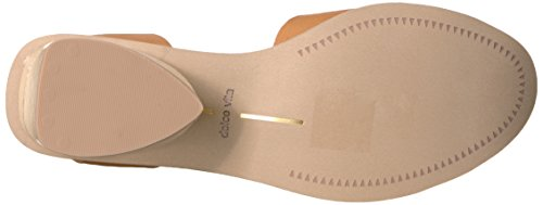 Sandalo Romano In Pelle Color Caramello Con Tacco E Vita Dolce