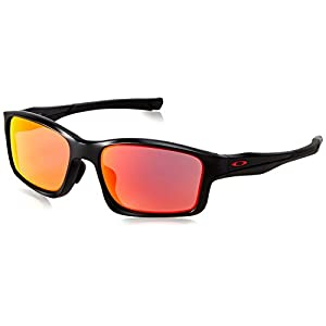 Oakley Men's Chainlink OO9252-09 Rectangular Sunglasses, Matte Black, 57 mm