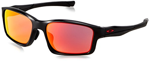 Oakley Men's Chainlink OO9252-09 Rectangular Sunglasses, Matte Black, 57 mm by Oakley
