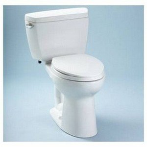 (TOTO CST744SLD#01 Drake 2-Piece Ada Toilet with Elongated Bowl and Insulate dated Tank, Cotton White)