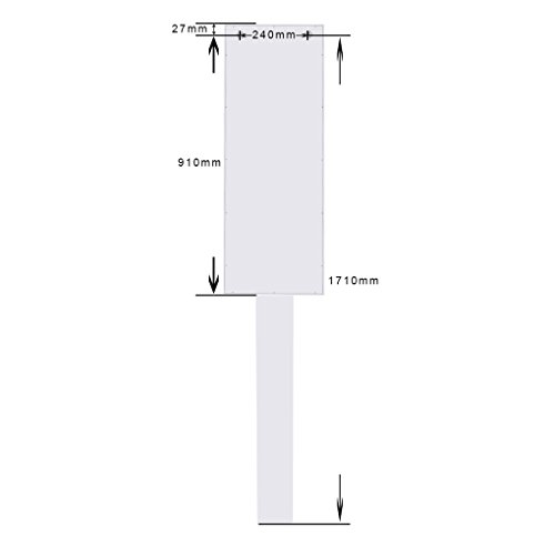 Topfire in Wall Ironing Board Cabinet Storage Shelves to Iron Accessories Dressing Mirror Storage Cabinet Hotel/Home/Office use by Topfire (Image #2)