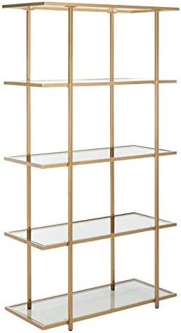 Safavieh Home Collection Francis 5 Tier Etagere, Gold Clear