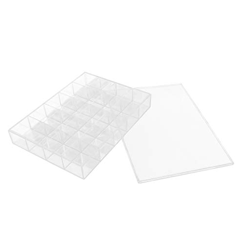 - Baosity Premium 20 Compartments Clear Acrylic Jewelry Earrings Ear Studs Ring Display Storage Case Box & Lid