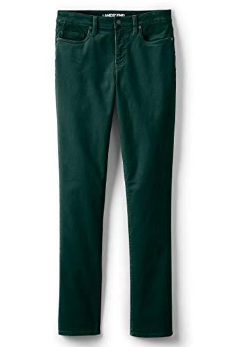 (Lands' End Women's Plus Size Mid Rise Straight Leg Corduroy Pants, 16W30, Deep Emerald)