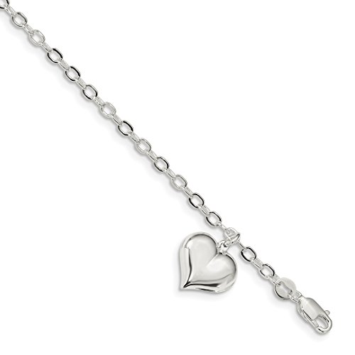 ICE CARATS 925 Sterling Silver Heart Charm Link Bracelet 8 Inch/love Fine Jewelry Ideal Gifts For Women Gift Set From Heart