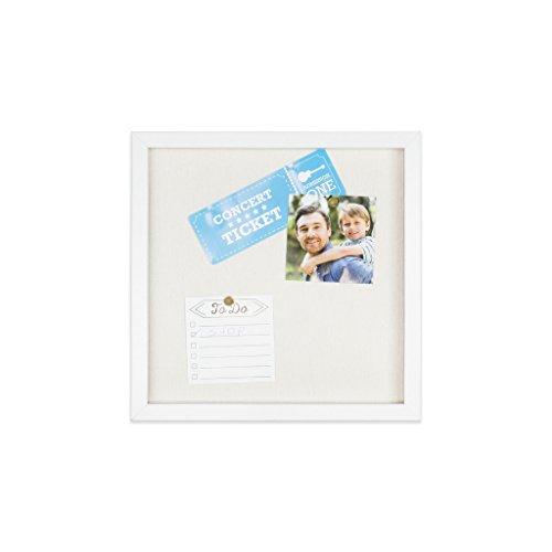 Wood Shadow Box Frames (EDGEWOOD Parkwood White 12x12 Shadow Box Frame for Memorabilia, Scrapbooking, Keepsake)