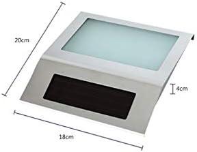 WYPG 2 Packungen Solar House Türnummer Powered LED Beleuchtete Licht , wasserdichte Edelstahl LED Türplatte Nummer Wandtafel