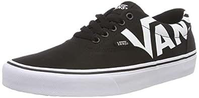 Vans Men's Doheny Low-Top Sneakers, (Big Logo) Black/White Ryh, 7.5 UK,VA3MTF