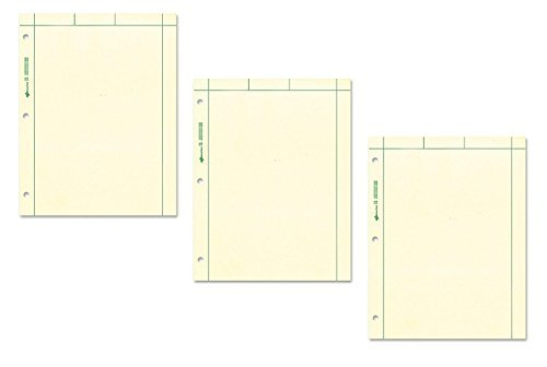 National Brand Computation Pad, Plain and 5 X 5 Quad On Back, Green Paper, 8.5 x 11 Inches, 200 Sheets (42389) (3, Green)