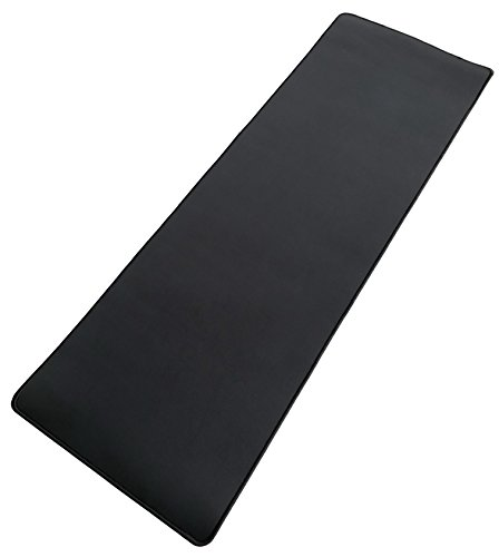 Vipamz Extended XXXL Non-slip Rubber Base Textured Weave Gaming Mouse Pad, Black - 36x12-Inch (Base Mouse Rubber Pad)