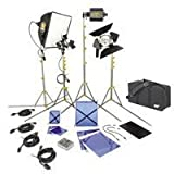 Lowel DV Creator 44 Kit, Analog & Digital Video Lighting Location Kit, with LB-35 Soft Case