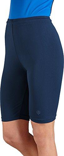 Coolibar UPF 50+ Women's Swim Shorts - Sun Protection (X-Large - Navy)