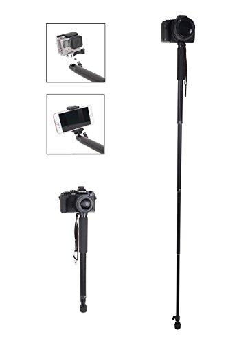 Fotopro 63inch 160cm Einbeinstativ Monopod Selfie Stick für Kamera, Gopro, iPhone, Sumsung und andere Android-Smartphone