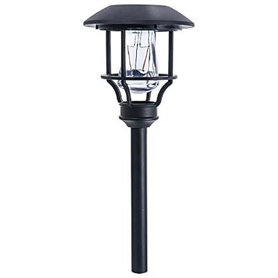 Paradise GL29408BK4 Solar LED Path Light Kit, 10 Lumens, 4-Pack