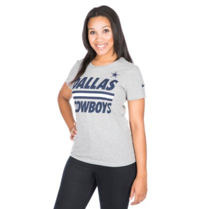 d7afde2860e Amazon.com : Dallas Cowboys Nike Womens Team Stripe Tee : Sports & Outdoors