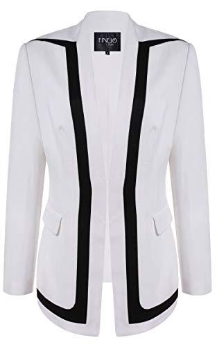 FINEJO Skinny Jackets Long Sleeve Blazer Suit (Best Finejo Coats And Jackets)
