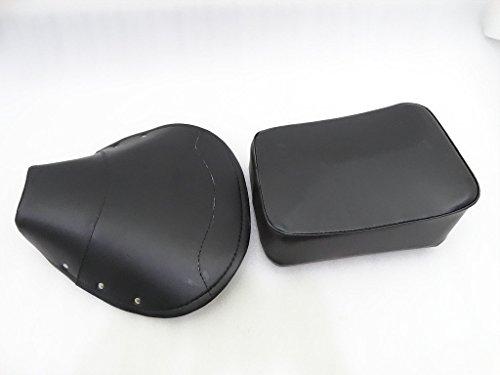 Vespa Seat Rear - Royal Crusaders Vespa Front Cover Rear Complete Seat Set Black VBB, VBA, Super, Sprint, PX