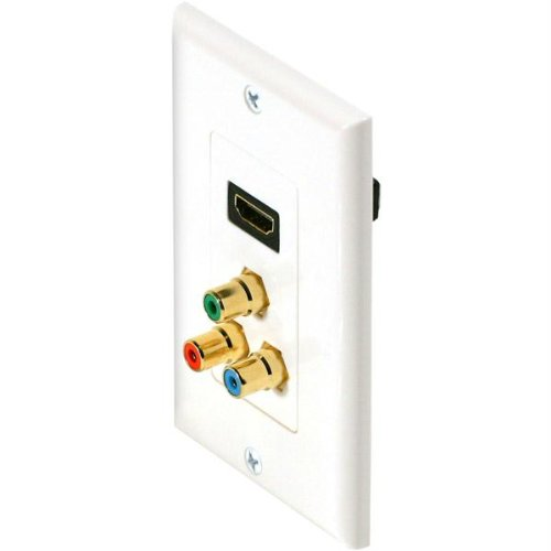 (Steren HDMI and Component Video Faceplate 516-117WH)