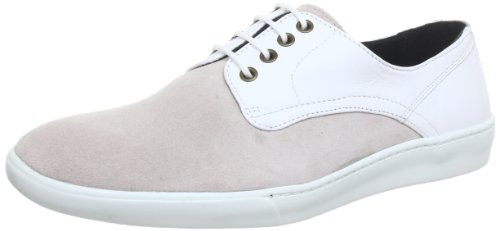 GENE20 London White Sole Chaussons homme Swear Leather Suede Blanc White Pqf5WHW