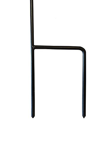 SoCal Flags Garden Flag Stand Weather Resistant Wrought Iron Powder Coated Garden Flag Stand - 40in x 19in x .5in
