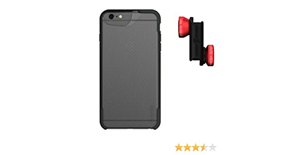 arrives cebf5 75896 olloclip 4-IN-1 LENS + CASE COMBO - iPhone 6/6S Lens: Red/Black, CASE:  MATTE CLEAR/DARK GREY