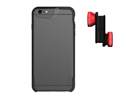 olloclip 4-IN-1 Photo Lens + olloCase for iPhone 6 Plus and 6s Plus - Lens: Red/Black - Case: Matte Clear/Dark Gray OC-0000130-EU