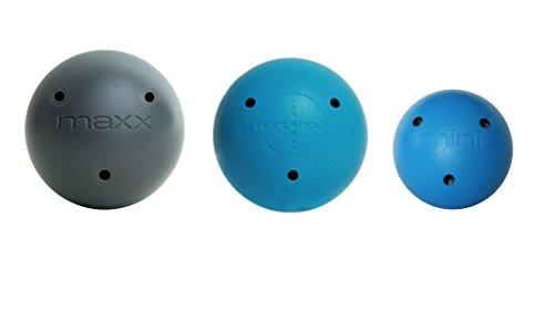 Smarthockey Smart Hockey Maxx Heavy Ball, Original Ball and Mini Speed Ball Stickhandling & Shooting Training System - Blue 3 Pack