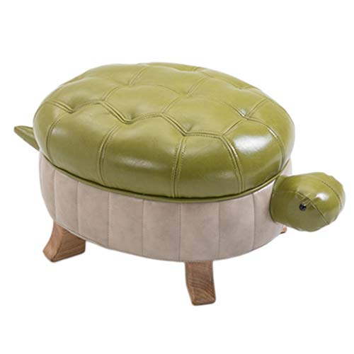 (Stools Solid Wood Footstool Creative Turtle Sofa Children's Door to Change Shoes Gifts (Color : Green, Size : 582731cm))