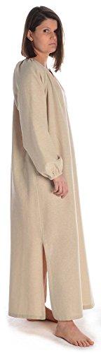 S naturbelassene Damen hanffarben Beige Kleid Mittelalter Wikinger HEMAD Baumwolle XXXL 1f0vX0