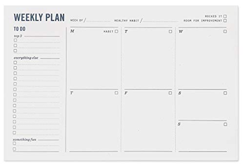 Weekly Planner Notepad - Weekly Planning Pad with to Do List, Daily Schedule, and Habit Tracker - Increase Productivity and Accomplish More - 9x6