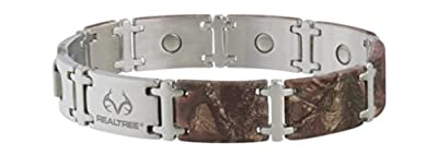 Men Bracelet Realtree Stainless Magnetic Brown from Sabona