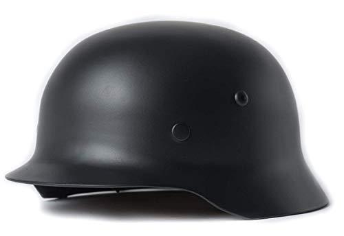 (YaeTek BLACK WWII WW2 German Elite Wh Army M35 M1935 Steel Helmet Stahlhelm)