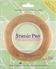 Studio Pro 1/4-Inch Black Lined Copper Foil ()
