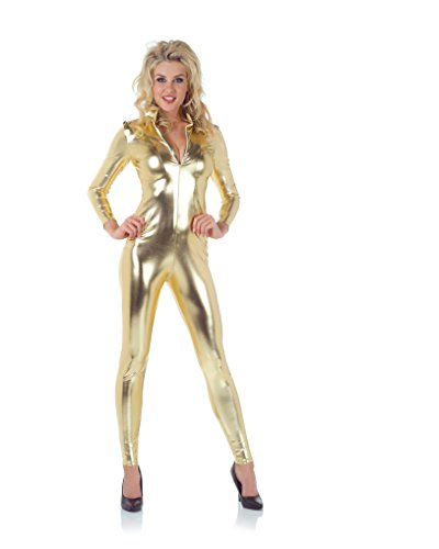 Underwraps Women's Stretch Jumpsuit, Gold,