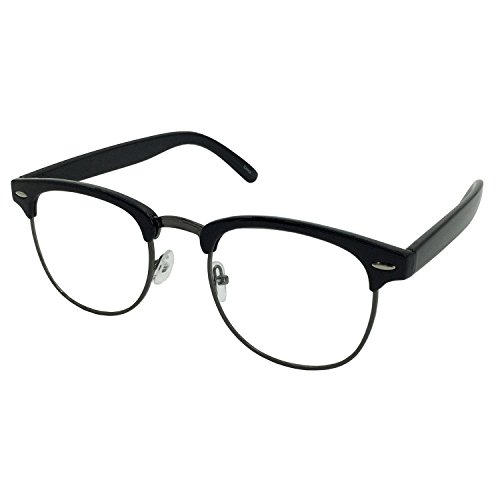 grinderPUNCH - Mens Non Prescription Clear Lens Glasses - Length Arm Glasses