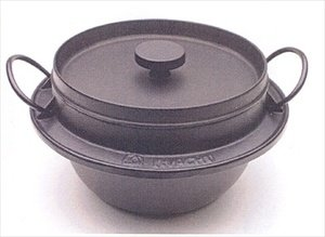 Japanese Iwachu Gohan Nabe Cast Iron Rice Cooker 5Go #410719 by JapanBargain