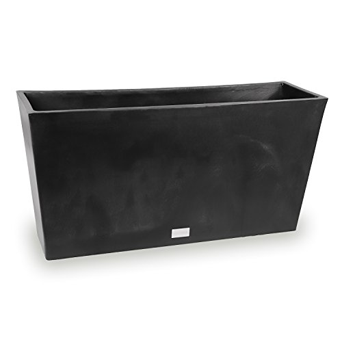 - Veradek Midori Long Trough Planter, 16-Inch Height by 9-Inch Width by 31-Inch Length, Black (MLO31B)