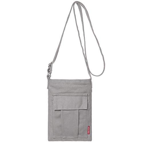 AOCINA Small Crossbody Purse Bags Canvas Mini Shoulder Handbag For Women(Gray)