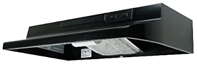 Air King AD1366 Advantage Ductless Under Cabinet Range Hood with 2-Speed Blower, 36-Inch Wide, Black Finish
