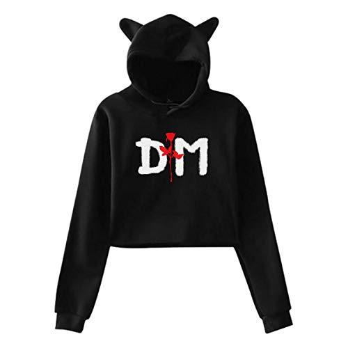 Depeche Mode Violator Girls Cat Ear Hoodie Sweater Sport Pullover Black ()