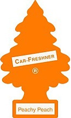 LITTLE TREES Car Air Freshener | Hanging Paper Tree for Home or Car | Peachy Peach | 3 Pack