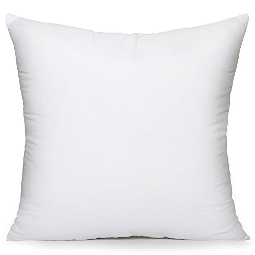 Acanva Hypoallergenic Pillow Insert Form Cushion Sham, Square, 26